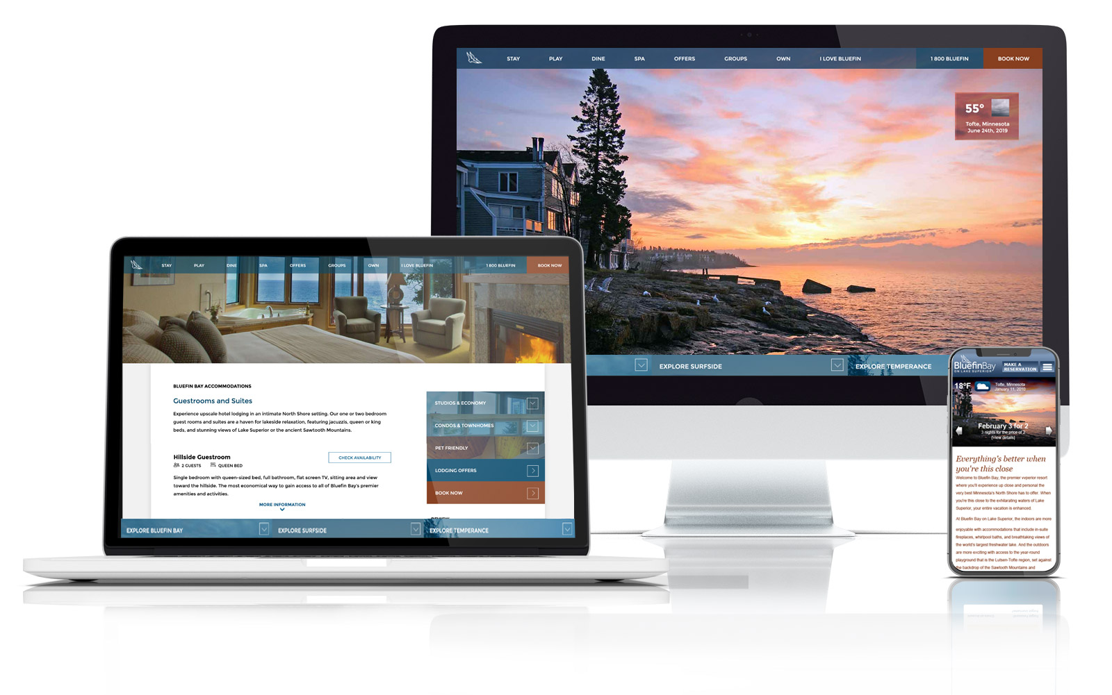 Bluefin Bay website development