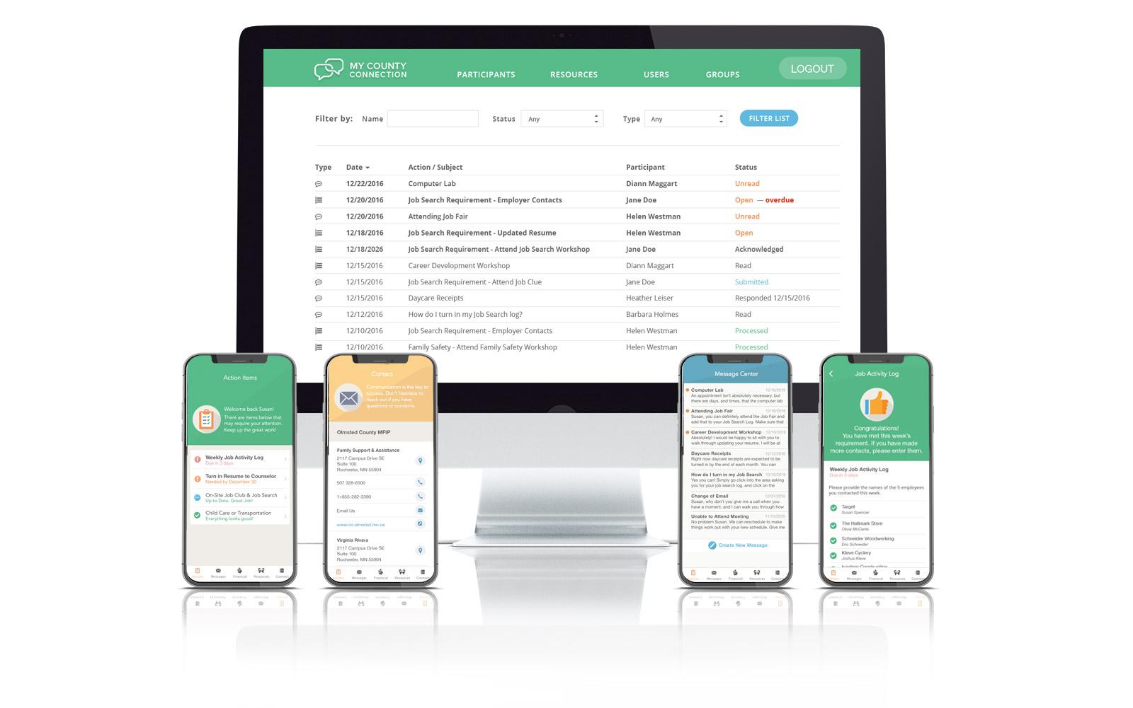 MFIP app and admin dev
