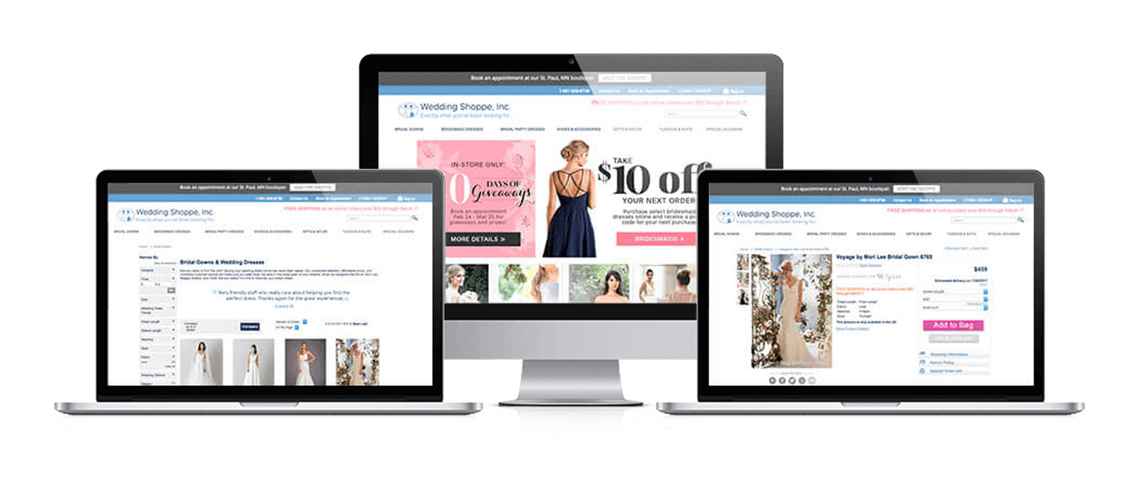 Wedding Shoppe web development